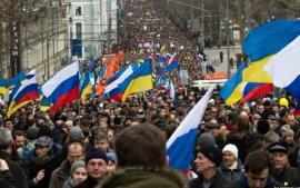 آلاف الروس يحتجون على حرب أوكرانيا