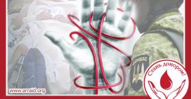 المركز الاسلامي في كييف ينظم حملة تبرع بالدم للجيش الأوكراني