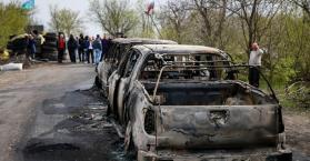 ثلاث قتلى و ثلاث جرحى في هجوم لمسلحين على إنفصاليين بمدينة سلافيانسك