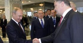 لقاء بوتين بوروشينكو في مينسك