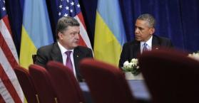 الرئيس الأوكراني باراك أوبامام و الرئيس الأوكراني بيترو بوروشينكو
