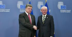 الرئيس الاوكراني و الأمين العام للاتحاد الأوروبي