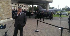 الرئيس الأوكراني بيترو بوروشينكو في ويلز
