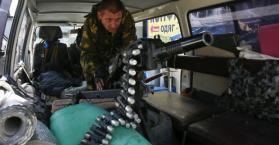 أحد الانفصاليين الموالين لروسيا شرق أوكرانيا