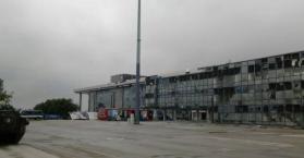 حجم الدمار الذي لحق بمطار دونتسك