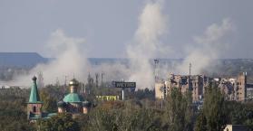 قصف على معقل للانفصاليين في دونيتسك