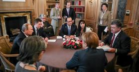 قمة لزعماء في الاتحاد الأوروبي مع بوتن و بوروشينكو