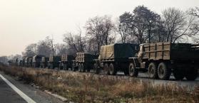 قوات روسية تدخل أوكرانيا