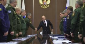 إجتماع الرئيس الروسي بقيادات الجيش