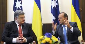 """بوروشنكو يقوم بزيارة رسمية لأستراليا و يشيد بوقف """"فعلي"""" لاطلاق النار في اوكرانيا"""