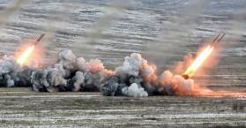 قصف بصواريخ الجراد بشرق أوكرانيا