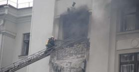 إنفجار داخل مبنى إدارة مقاطعة لوهانسك
