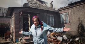 أحد المسنات سقطت قذيفة على منزلها