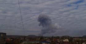 إنفجار قوي قرب مصنع للكيماويات يهز دونيتسك شرق أوكرانيا