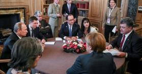 قمة رباعية في مينسك  لزعماء المانيا وفرنسا وأوكرانيا وروسيا لبحث الأزمة الأوكرانية
