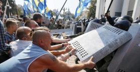 ارتفاع حصيلة ضحايا الأحداث أمام البرلمان الأوكراني إلى قتيلين و130 جريحا
