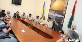 وقفة تضامنية مع الأسرى الفلسطينيين في العاصمة الأوكرانية كييف