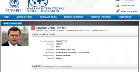 """الانتربول يضع اسم الرئيس الاوكراني السابق """"يانوكوفتش"""" على القائمة الدولية للمطلوبين"""