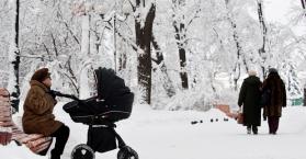 درجات الحرارة تتراجع جزئيا في عموم مناطق أوكرانيا
