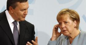 ميركل تبحث مع يانوكوفيتش اتفاقية الشراكة بين أوكرانيا والاتحاد الأوروبي