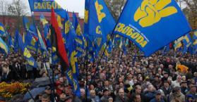 """الأقليات في أوكرانيا قلقة من عبور حزب """"سفوبودا"""" إلى البرلمان"""