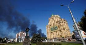 قصف يطال وسط دونيتسك للمرة الاولى منذ إعلان الهدنة