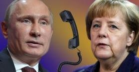 ميركل تدعو بوتين العمل على حل الخلاف حول الغاز مع أوكرانيا