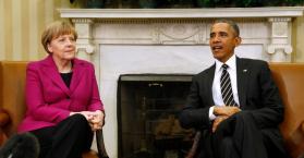 ميركل تحث أوباما على عدم تزويد أوكرانيا بالسلاح