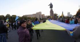 تظاهرة  في خاركوف شرق أوكرانيا مناهضة لروسيا