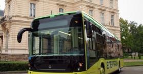 مدينة لفيف تشهد عرض أول حافلة كهربائية في أوكرانيا