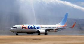 """""""فلاي دبي"""" تدشن أول رحلاتها إلى مطار """"جولياني"""" بالعاصمة كييف"""