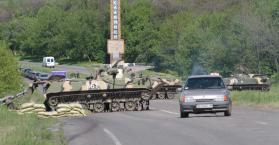 """استعدادات """"لمعارك شرسة"""" في سلافيانسك بشرق أوكرانيا"""