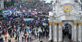 """يانوكوفيتش يطلب """"بحث الشراكة""""، وآزاروف وبوتين يتحدثان عن """"انقلاب"""" و""""مؤامرة"""""""