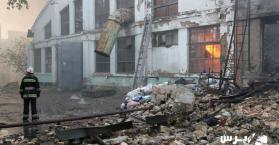حريق هائل يلتهم مستودعات تجار عرب في العاصمة الأوكرانية كييف