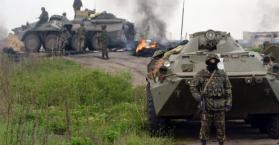 مقتل ثلاثة جنود ومدنيين اثنين في شرق أوكرانيا