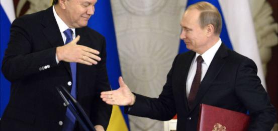 بوتن و الرئيس الأوكراني المخلوع يانوكوفتش