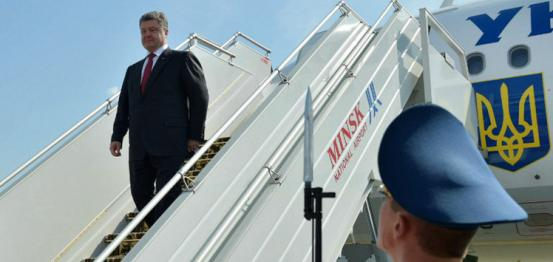 بوروشينكو يصل مينسك ويأمل التوصل لاتفاق حول إحلال السلام في أوكرانيا