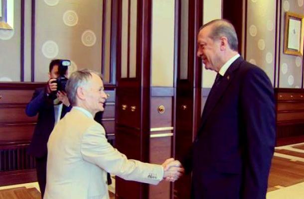 رجب طيب أردوغان يستقبل مصطفى جاميلوف