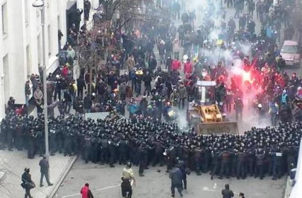 وفق إحصائيات أوكرانية رسمية: 285 مصابا خلال مظاهرات كييف يوم الأمس