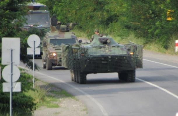 وحدات من القوات الأوكرانية بالقرب من موكاتشيفو