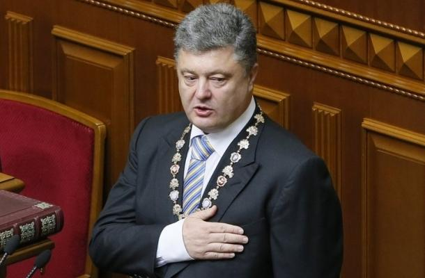 مراسم تنصيب بيترو بوروشينكو رئيسا لأوكرانيا