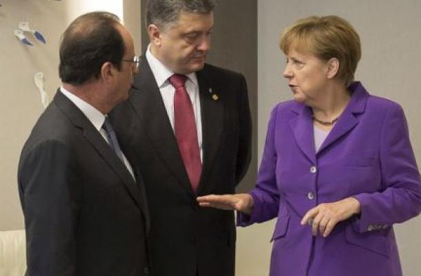 اجتماع طارئ لبوروشينكو وميركل وهولاند يبحث التصعيد في شرق أوكرانيا
