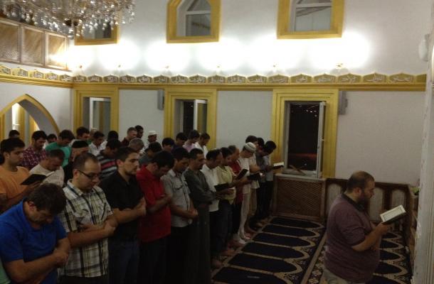 رمضان في المسجد الجامع بمدينة لوهانسك