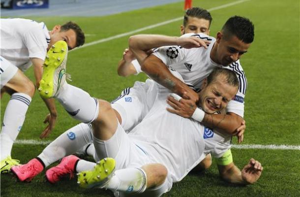 جانب من مباراة دينامو كييف وبورتو البرتغالي