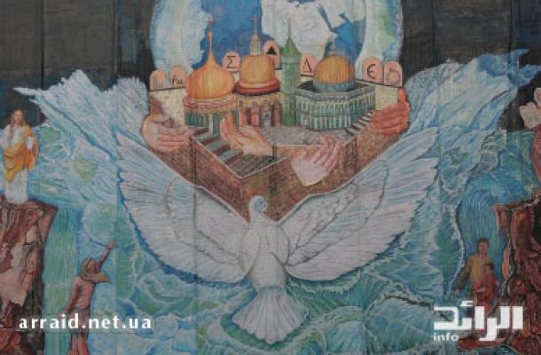 حمامة السلام تدل على اللجوء إلى دور العبادة هربا من طوفان الظلم والأحقاد