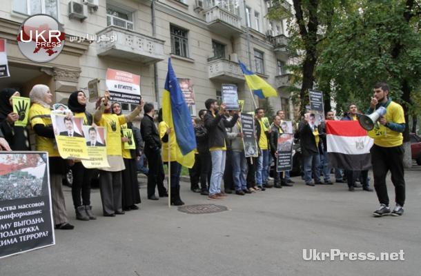 مظاهرة في أوكرانيا تؤيد الشرعية وترفض الانقلاب في مصر