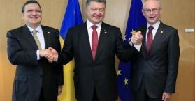 أوكرانيا توقع اتفاقية الشراكة الاقتصادية مع الاتحاد الأوروبي