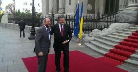 الرئيس الأوكراني يلتقي رئيس البرلمان الاوروبيِ
