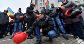 عمال المناجم في أوكرانيا يستأنفون احتجاجاتهم مطالبين بتسديد رواتبهم المستحقة