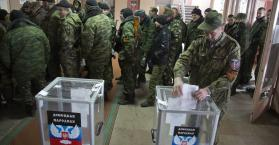 إنتخابات شرق اوكرانيا يجريها الانفصاليون الموالون لروسيا